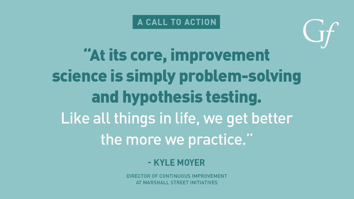 """Just Start"": Improvement Doesn't Have to Wait, writes Kyle Moyer"
